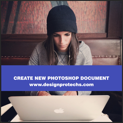 create new Photoshop document