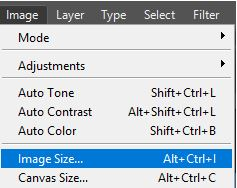 Image size in Photoshop