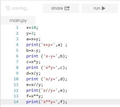 Operators of Python